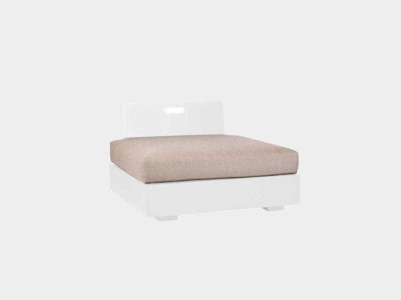 Lounge Bari Aluminium 1-Sitzer