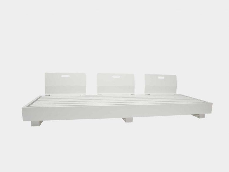 Lounge Aluminium Plattform weiss