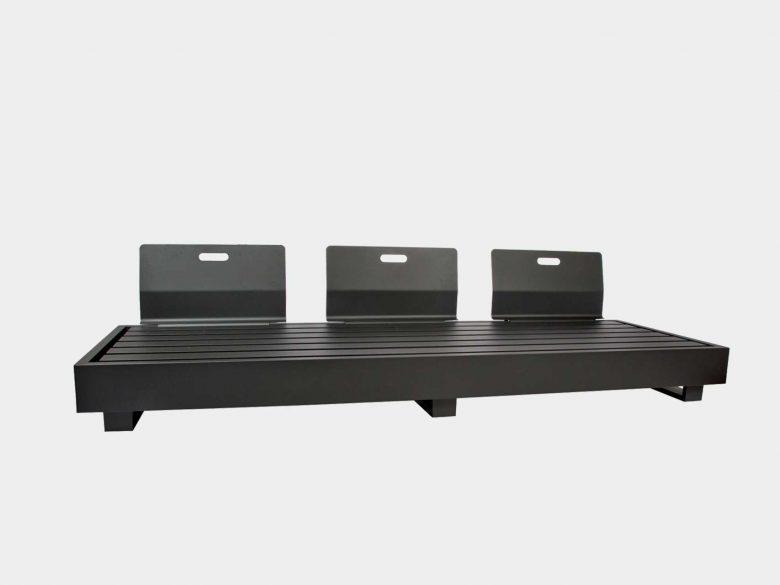 Bari Lounge Aluminium 3-Sitzer