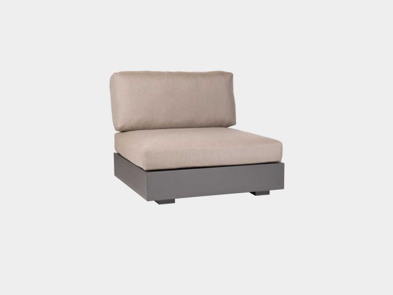 Lounge Bari 1-Sitzer Aluminium