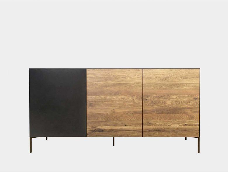 Kommode Sideboard Massivholz Blech