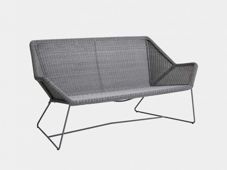 Loungesofa Kufengestell grau