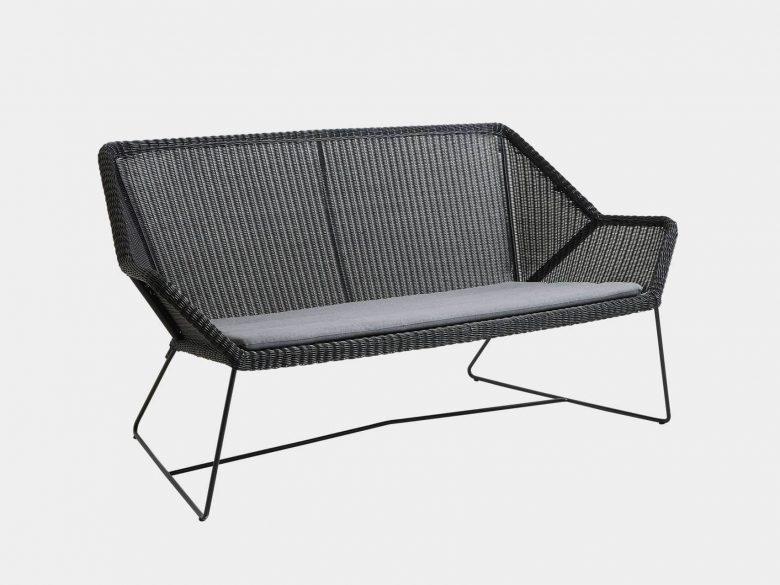 Loungesofa Kufengestell schwarz