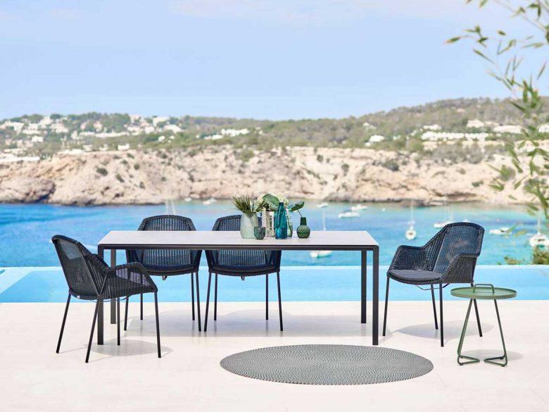Breeze Stuhl Gartenstuhl stapelbar schwarz