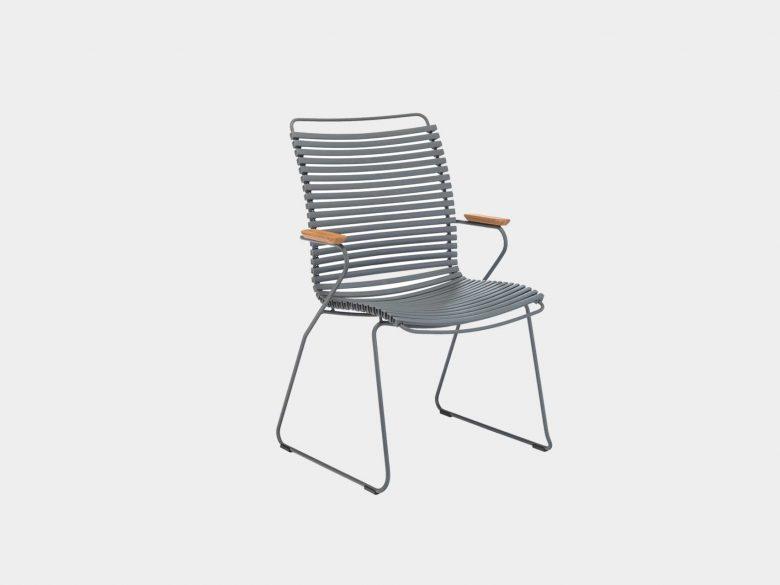 Click Dining Sessel Gartenstuhl Stahl pulverbeschichtet
