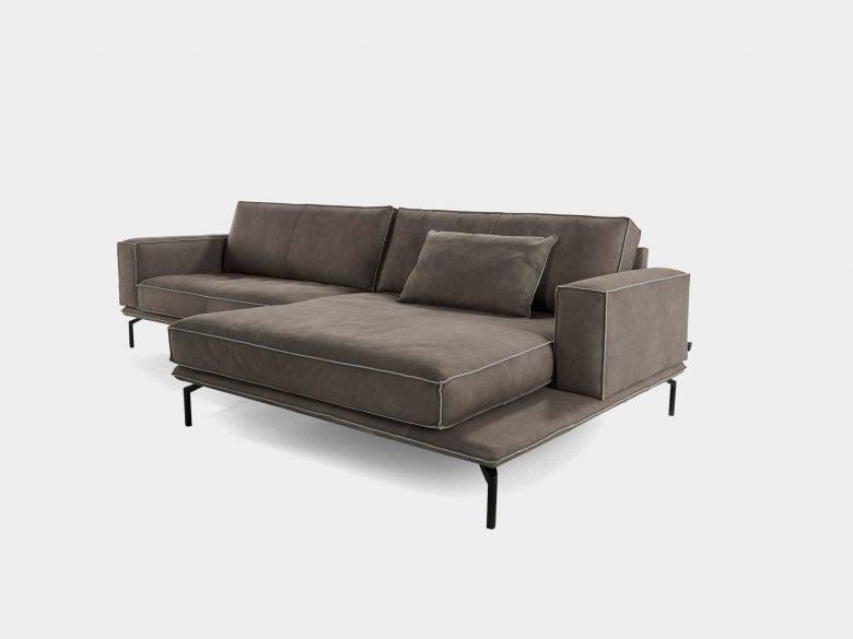 Sofa Leder Aluminium pulverbeschichtet