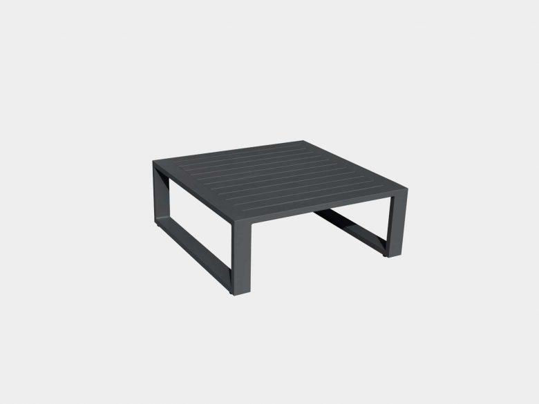 Beistelltisch Lounge Aluminium anthrazit