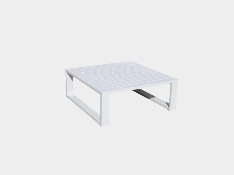 Beistelltisch Lounge Aluminium weiss