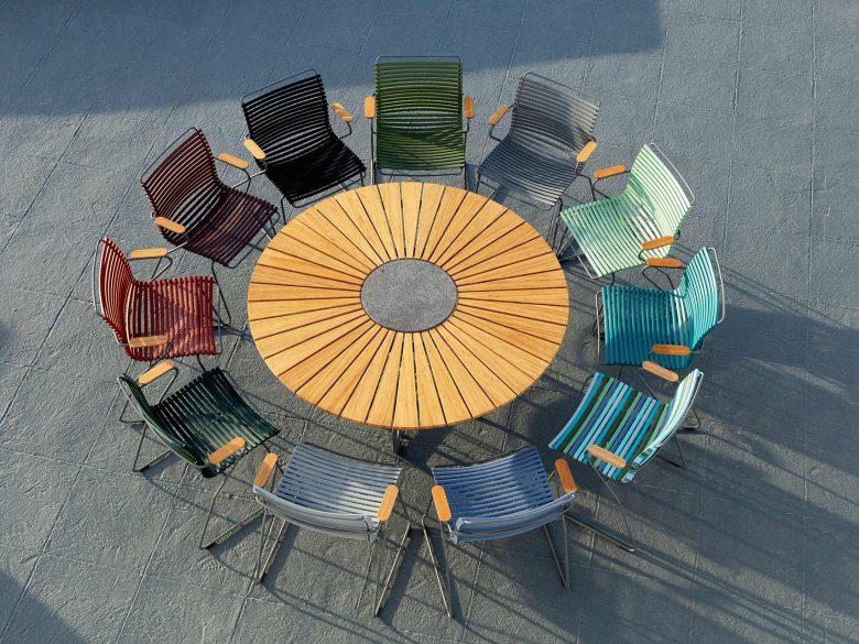 Click Dining Gartenstuhl Stahl pulverbeschichtet