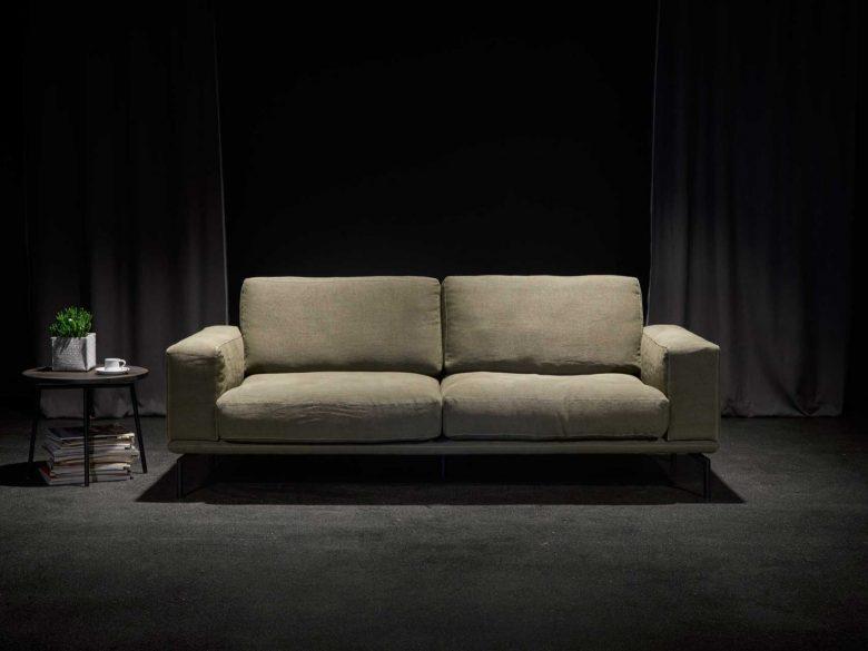 Sofa Leder Edelstahl