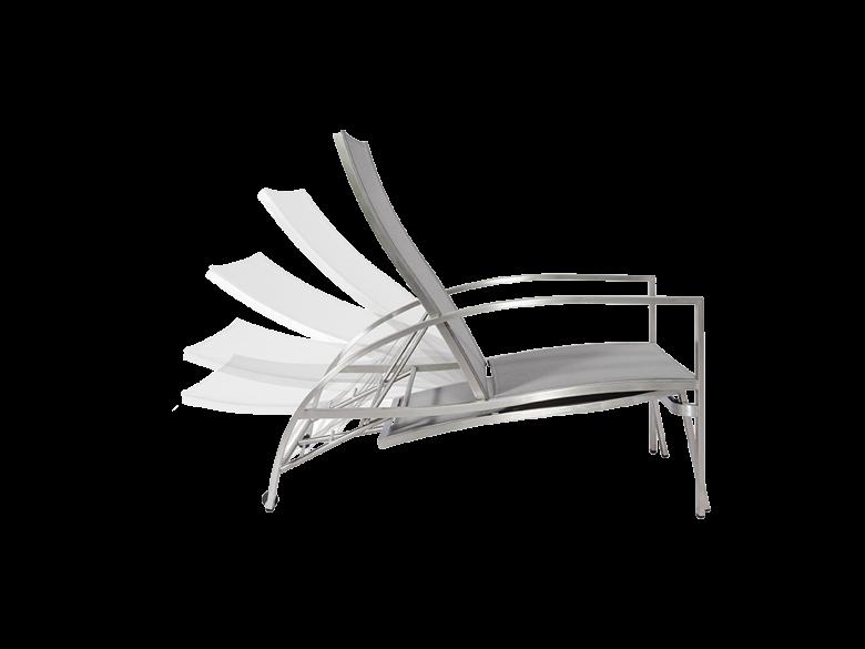 Deckchair Edelstahl verstellbar