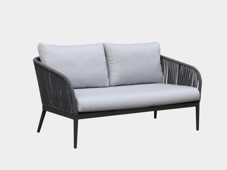 Loungeset 2-Sitzer Sessel Loungetisch Aluminium