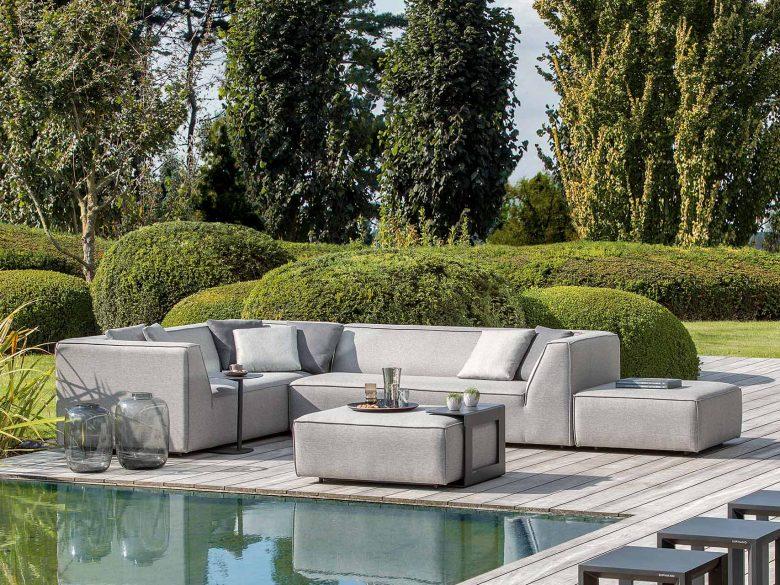 Loungesofa modular Garten Outdoor 2,5-Sitzer