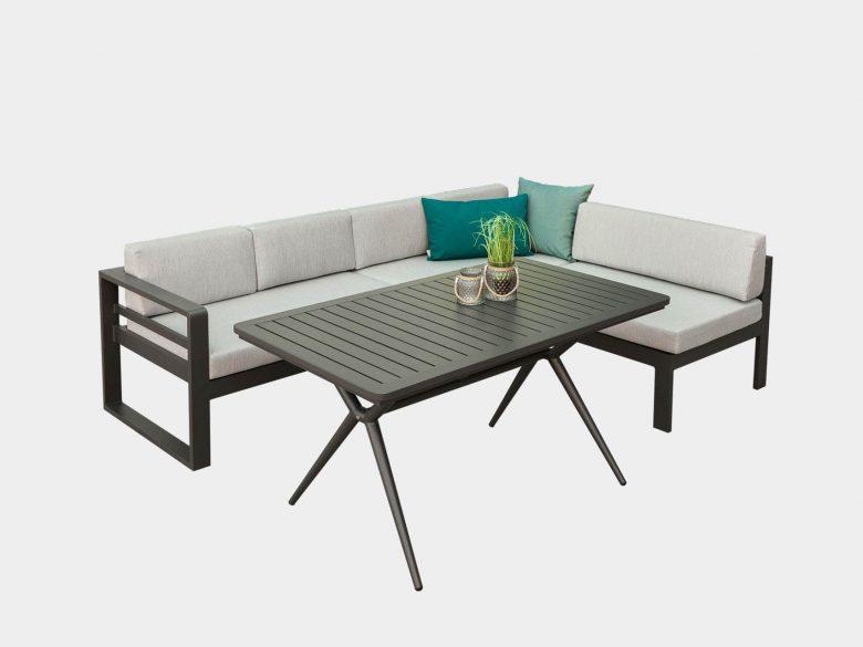 Loungeset Padua Aluminium Sofa Tisch Garten