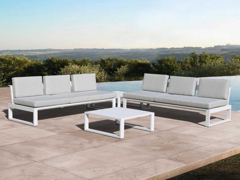 Loungesofa Outdoor Garten Aluminium