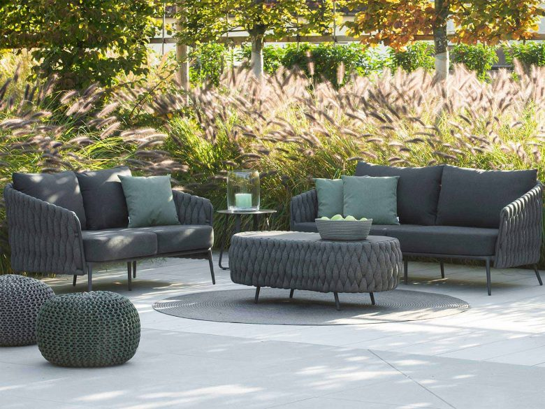 Lounge Sofa 2-Sitzer Aluminium