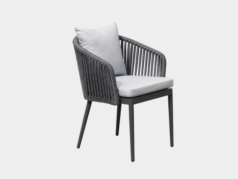 Gartenstuhl Sessel Geflecht Aluminium Sitzkissen Sunbrella