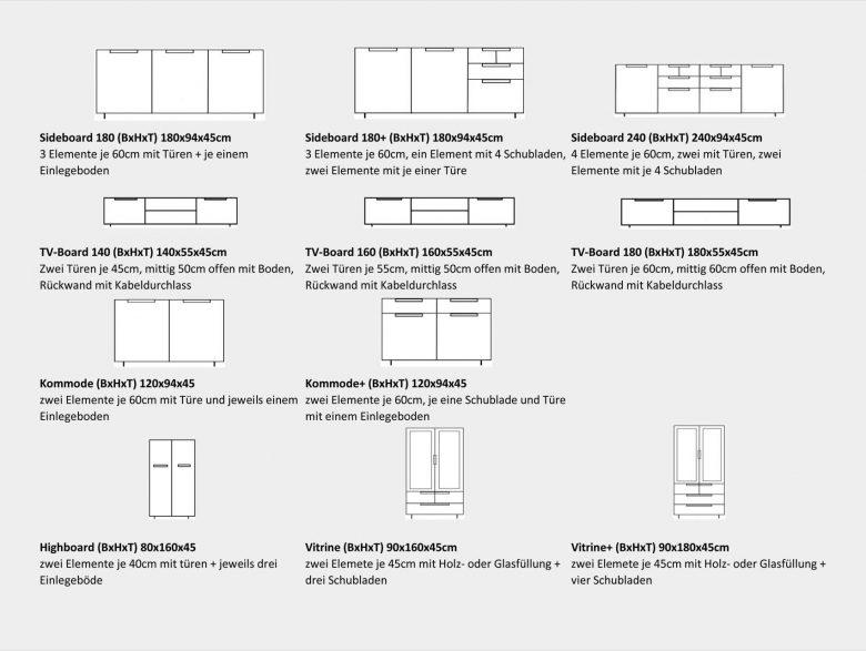 Sideboard Kommode Modern Wange