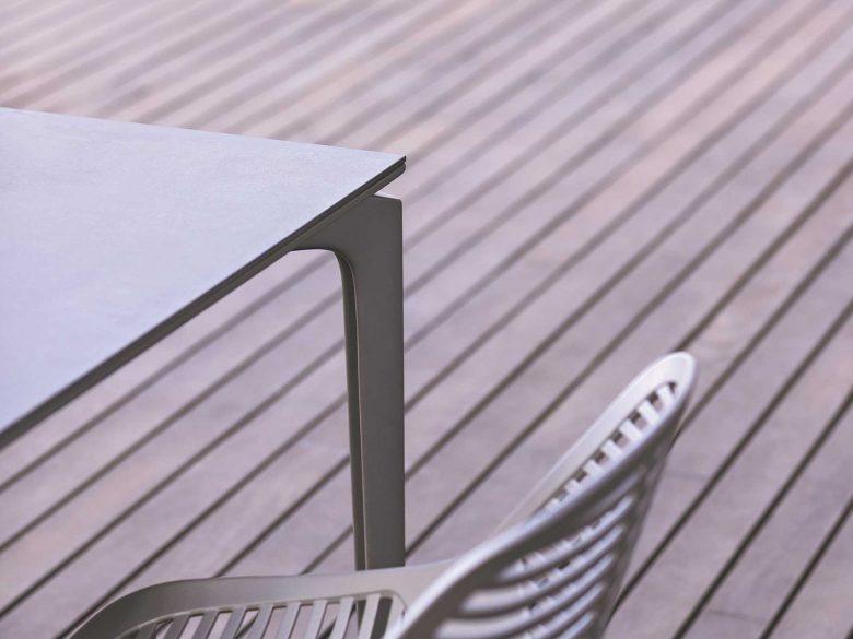 Gartentisch Aluminium Keramik