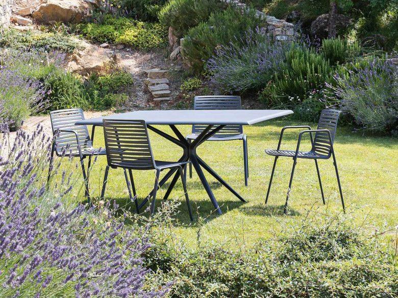 Gartentisch Gartenstuhl Aluminium