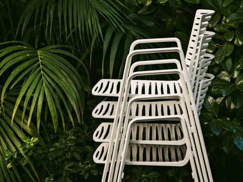 Gartenstuhl Aluminium stapelbar