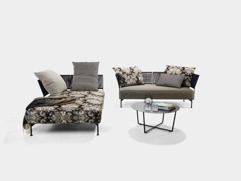 Loungesofa als Eck- oder Einzelsofa, Rope Bespannung, wetterfest