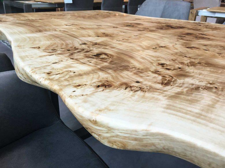 Pappelmaser Tischplatte, Baumscheibe, Unikat