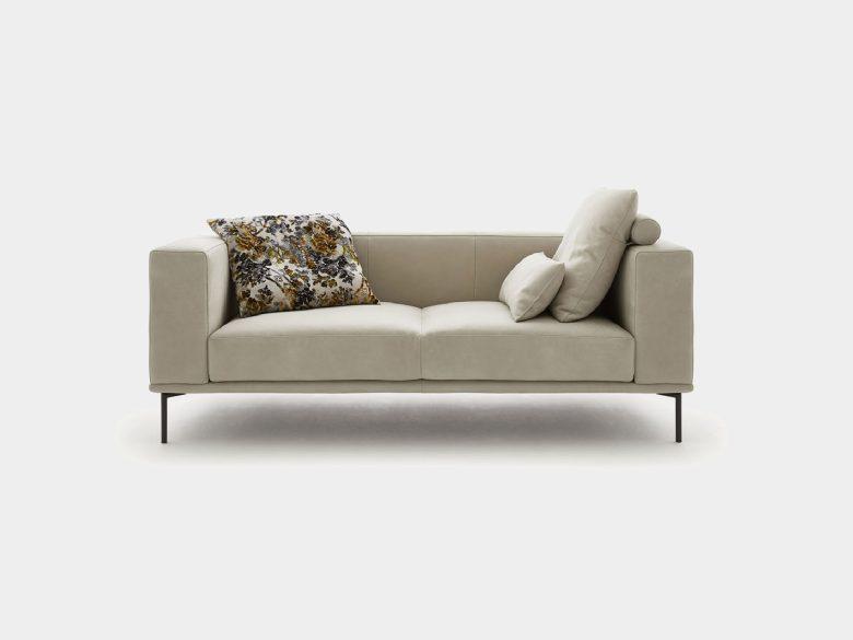 Sofa Empoli Sessel Einzelsofa recamiere Longchair Ecksofa Hocker Stoff Leder 2 sitzer Sofa