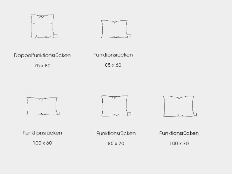 Funktionssofa Iwan Größen Elemente Sofa